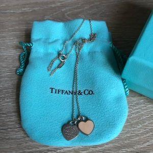 Return to Tiffany: Mini Double Heart Tag Pendant